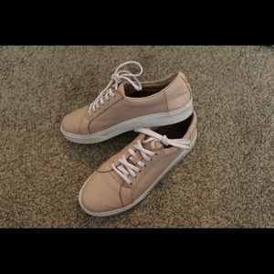 kaanas Shoes - Kaanas Light Pink Leather Sneakers